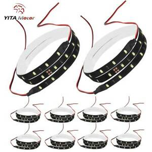 Yitamotor 10x White 2835 Smd 30 Leds Flexible Strip Light Waterproof Truck Boat