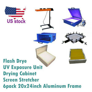 Screen Printing Flash Dryer uv Exposure Unit drying Cabinet stretcher frame
