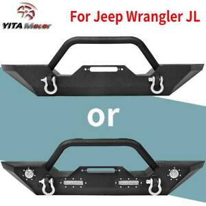 Powder Coated Front Bumper W D ring For Jeep Wrangler 18 20 Jl