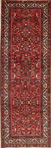 Vintage All Over Lilian Floral Oriental Runner Rug Red Wool Hand Knotted 3x10
