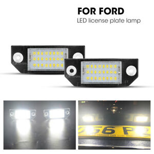 2x For Ford Focus 2 C Max Mk2 03 08 Led License Number Plate Light Car Driving