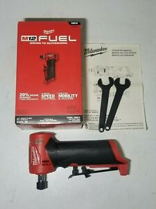 New Milwaukee M12 Fuel 1 4 Right Angle Die Grinder 4 speed Tool Only 2485 20