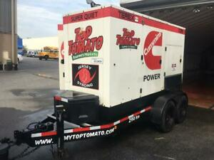 Terex T270 Super Quiet 230 Kw 288 Kva Diesel Towable Generator And Trailer