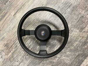 Alfa Romeo Spider Leather Wrapped Steering Wheel Series 3 82 90