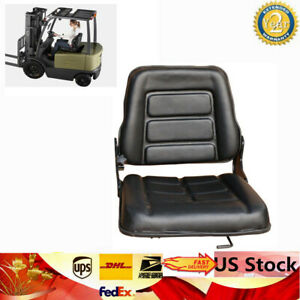 Universal Forklift Seat Chair Bobcat Tractor Excavator Multi function Adj New