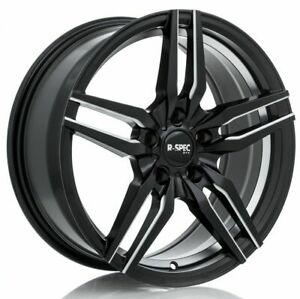 Five 5 18x8 Rtx R spec Zenith Et 35 Black Milled 5x114 3 Wheels Rims