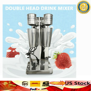 Commercial Stainless Steel Milk Shake Machine Double Head Drink Mixer 180w 180w