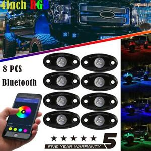 Rgb Led Rock Lights Under Body Bluetooth Multi color App Phone Control Suv Atv