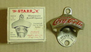 Vintage Starr X Coca Cola Wall Mount Stationary Bottle Opener w/Original Box