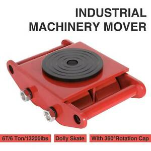 6t Machinery Mover Dolly Skate 4 Rollers 13200lbs 6 Ton With 360 rotation Cap