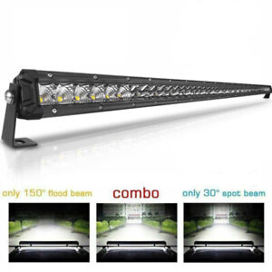 52 Inch 6272w Curved Led Light Bar Quad Row Driving Off Road Combo Drl Fog 52