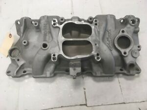 Used Small Block Chevy Edelbrock Performer 2101 Aluminum Intake Manifold