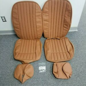 Jaguar Xke Series 2 Fhc Roadster 2 2 Seat Covers Headrests Perforated Tan
