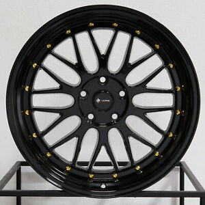 4 New 19 Vors Vr8 Wheels 19x8 5 19x9 5 5x112 35 35 Gloss Black Staggered Rims