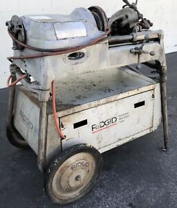 Ridgid 535 Pipe Threader Rolling Cart 1 8 To 2 Pipe Industrial W Accessories