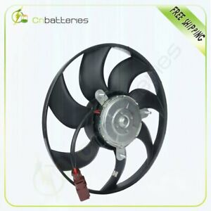 Ac Condenser Radiator Electric Cooling Fan For Vw Audi Push Pull Passenger Side