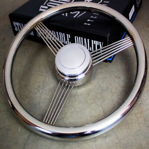 14 Stainless Steel String Banjo Steering Wheel With Horn Button Classic Vintage
