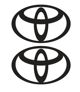 Toyota Logo Decal Vinyl Sticker 2 Items Free Shipping