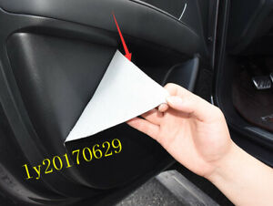 4x Sticker Car Door Anti Kick Pad Protective Cover Trim For Acura Rdx 2019 2020