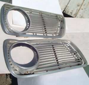 1966 Valiant Side Grills Headlight Bezels Nice Original 66 Plymouth Oem Signet