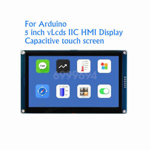New 5 Inch Capacitive Touch Screen Hmi I2c Lcd Display Module For Arduino