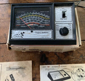 Vintage Sears Engine Analyzer 161 2161 12 Volt W test Leads Manual original Box