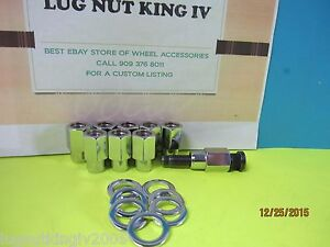 10 Open End Lug Nuts 1 2 20 Old American Racing Torq T D 68 Dia 55 Shank