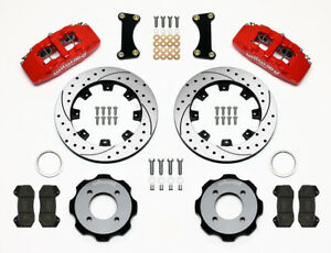 Wilwood Dynapro 6 Front Hat Kit 12 19 Drilled Red For Ford Fiesta 140 11899 dr