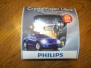 Philips Crystal Vision Ultra Halogen Bulb Headlight Lamp H7 12972 Nib Pack Of 2