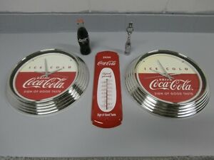 Coca Cola Clocks, Thermometer, pop bottle, bottle opener - Excellent Condition a