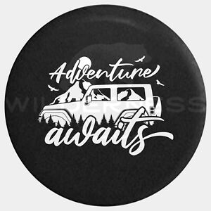 Spare Tire Cover For Jeep Wrangler Camper Rv Jk Tj Yj Adventure Awaits Jeep 14