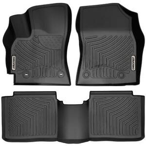 Oedro Floor Mats Liners Tpe Fit For Toyota Corolla 2014 2016 All weather Black