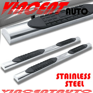For 09 18 Dodge Ram 1500 Quad Cab 4 Side Step Running Board Nerf Bar Chrome A