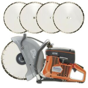 New Husqvarna K770 14in Concrete Cutoff Saw Free Shipping six Blades Included