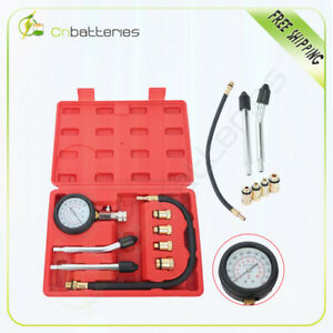 Engine Compression Tester Gauge Kit Cylinder Pressure Leakage Test Tool