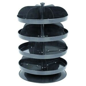 Round Revolving Small Parts Bolt Screws Tool Storage Bin Spinning Tray