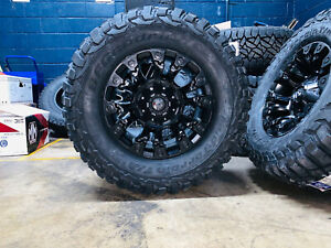17x9 Fuel D560 Vapor 33 Bfg Km3 Wheels Tires Package 5x150 For Toyota Tundra