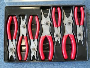 Snap On Retaining Ring Pliers 7 Pc Set In Tray W Lid Pakld203 Snapon Snap On