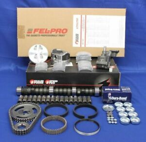 Stage 3 Master Engine Kit Flat Top For Chevy Sb 350 5 7l 1968 1985 Lt1 l82 Cam