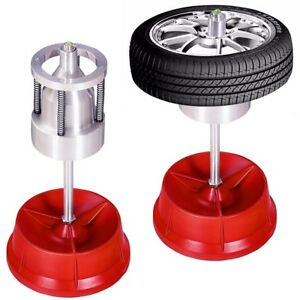 Portable Hubs Wheel Balancer W Bubble Level Rim Tire Cars Truck Pro Machine Red