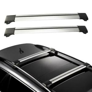 2x Universal Cross Bar Top Rails Roof Rack Luggage Cargo Carrier Anti Theft Lock