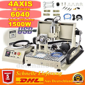 4 Axis Cnc 6040z Engraving Milling Machine Engraver Cutter Usb Router Drilling