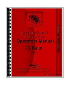 International Harvester 71 3 Wire Baler Owners Operators Manual