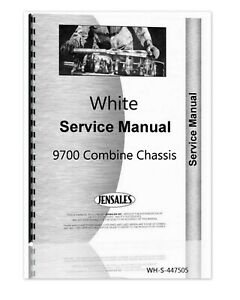 White 9700 Combine Chassis Service Shop Repair Manual