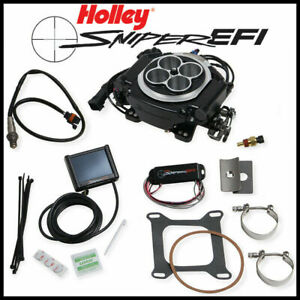 Holley Sniper Efi Fuel Injection Self Tuning Master Kit Black Ceramic