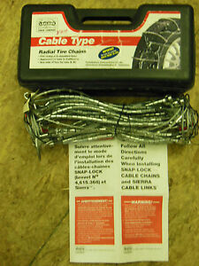 Tire Snow Chains Stock 1038 Never Used Cross Cable For Lt Truck Suv Van