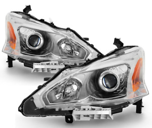 New Pair Set For 13 15 Altima 4dr Sedan Headlights Headlamp Left Right 2013 2015