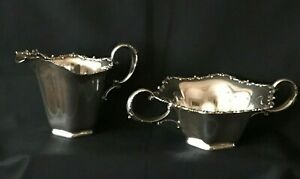 Antique Sterling Silver Sugar Creamer By Frank M Whiting 1687