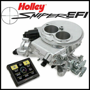 Holley Sniper 2 Barrel Fuel Injection Efi 2300 Self Tuning Conversion Kit Shiny