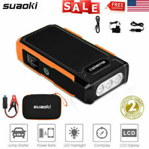 20000mah 12v Car Jump Starter Portable Power Bank Battery Booster Clamp 1500a Us